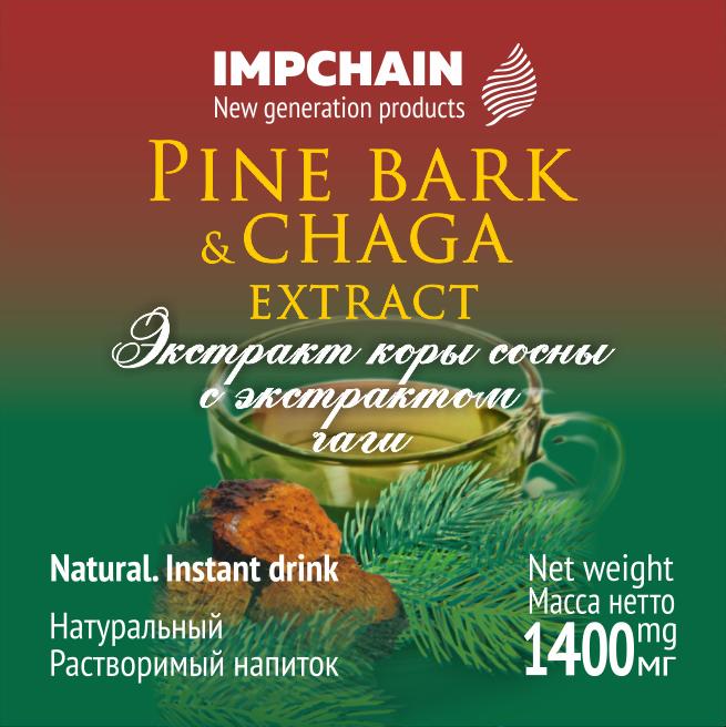Экстракт коры сосны с экстрактом чаги. Быстрорастворимый напиток. Указана цена 1-й упаковки. Цена пакетика 20 р.